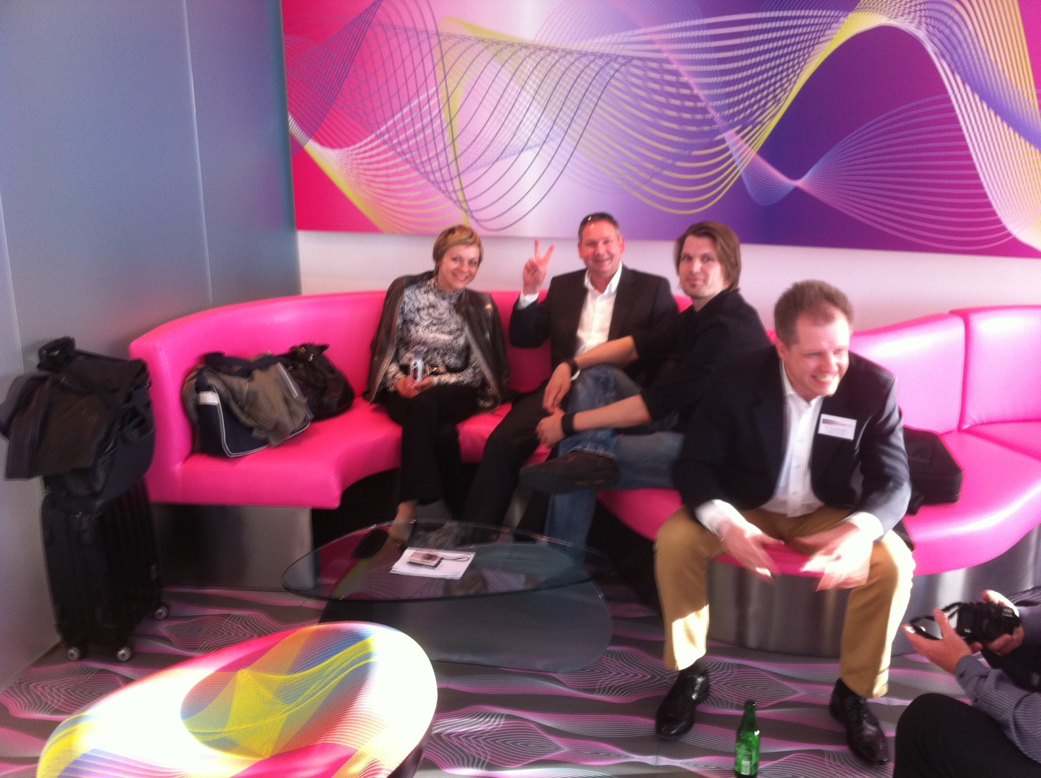 VIP-Lounge beim Internet Marketing Kongress 2011 in der Luxus-Suite des nHow-Hotels.